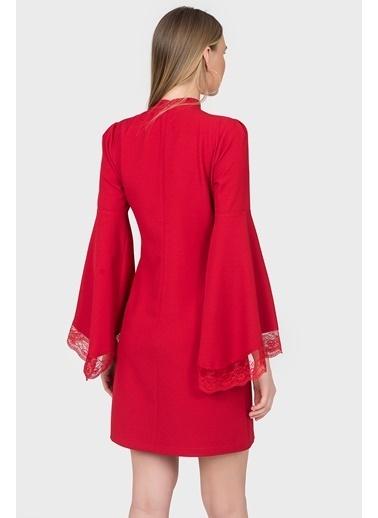 İspanyol Kol Dantel Detaylı Elbise-İroni